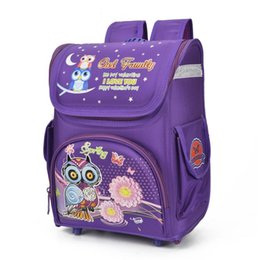 Wholesale Nylon Bird - Large Capacity Girls School Bags Boys Backpacks Nylon Primary Students Orthopedic Bag Cartoon Owl Bird Racing Cars Kids Knapsack