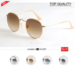 Wholesale Vintage Sunglass Frames - 2018 Brand vintage Sunglasses Women Men Fashion circle UV400 Sun Glasses Alloy Frame Eyewear Black Blue Sunglass gradient round 50mm gafas