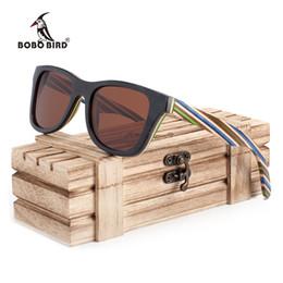 полосовые солнцезащитные очки Скидка Бобо птица бренд 100% природа деревянный цвет полоса рамка солнцезащитные очки Женщины человек поляризованные стимпанк солнцезащитные очки Dropshipping OEM 2017