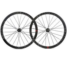 Дисковый тормоз онлайн-700C 38 мм глубина дорожного велосипеда дисковые тормоза карбоновые колеса ширина 25 мм Клинкер / трубчатая карбоновая колесная пара с втулкой Novatec