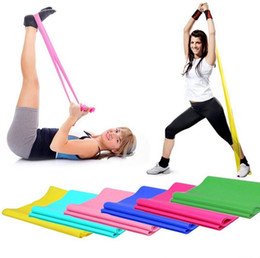 Wholesale Exercise Stretch Resistance Bands - Yoga Pilates Rubber Stretch Exercise Band 1.2m 1.5m 1.8m Resistance Exercise Fitness Band Belt EEA183