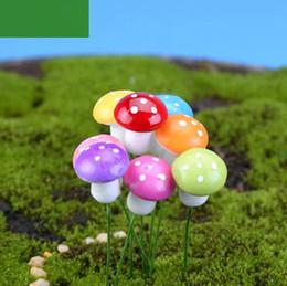 Wholesale Artificial Landscape Plants - 2cm Cartoon Mini Simulation Small Mushrooms DIY Moss Terrarium Micro-landscape Fairy Simulation Mushrooms Garden Decoration CCA8871 1000pcs
