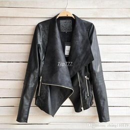 Wholesale Plus Size Faux Leather - 2018 PU Leather Jacket Women Clothes Faux Turn-Down Collor Female Jackets Womens Slim Coats Plus Size Feminino Mujer Outerwear