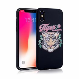 Wholesale Mode Bestickt Telefon Fall Chinesischen Stil Telefonabdeckung Für iPhone X plus S SE TPU Shell Handy Fällen Abdeckung