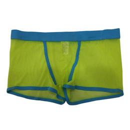 Discount underpants knickers - Plus Size 4 Colors Men Sexy Lingerie Transparent Underwear Male Boy Breathable Mesh Boxers Bulge Comfy Underpants Knickers