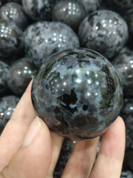 Wholesale Natural Gemstone Carving - Free shipping 1pcs natural serpentine Crystal gemstone sphere meditation reiki healing ophiolite crystal polished ball as gift