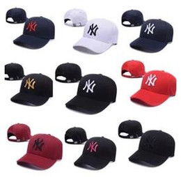 Wholesale Hats Caps La - Hot wholesale new brand ny Long brim Baseball cap LA dodge hat classic Sun hat spring&summer casual fashion outdoor sports bone baseball cap