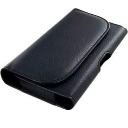 Fundas iphone fundas online-Funda universal para celular Funda con clip para el cinturón de cuero de la PU Funda de transporte para iPhone X Xs Max Teléfonos de Samsung