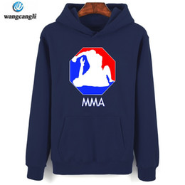 Wholesale mma caps - 2018 Spring Style Logo Harajuku Mens Cap printed hoodie Sweatshirt Hit MMA Fighter Coat Jacket Hoodies Clothes MMA survetement