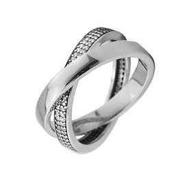 Wholesale Free Promise Rings - Promise Rings with Clear CZ 100% Authentic 925 Sterling-Silver-Jewelry Free Shipping PANDOCCI