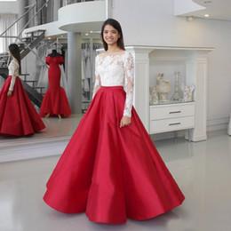 Vestidos blanco y rojo