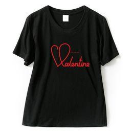 doces de valentim Desconto T das mulheres T-shirt do Dia Dos Namorados Tema T Para Mulheres Amor Design Chothing Para As Meninas Bonitas de Algodão T Beijo Doce Moda Pullover S Xxl
