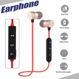 Wholesale Earphone Design - Bluetooth Headphones Magnetic Design Earphones Wireless Headset With Mic MP3 Earbud Bass Stereo Music For iPhone X 7 8 With Retail Package
