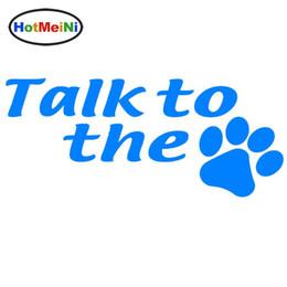 al por mayor perro pegatinas de parachoques Rebajas Pegatina del coche al por mayor Jdm que diseña el parachoques de la ventana del carro del vinilo calcomanías del cuerpo Charla impermeable para el perro Garra del gato de impresión Animal 7 * 3 pulgadas