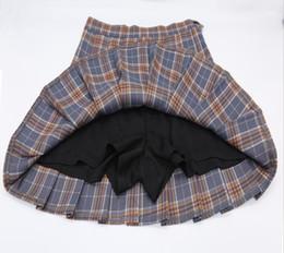 Argentina Kawaii coreano uniforme escolar Falda para niñas más tamaño Xs-xxl Falda a cuadros Para Mujeres Estudiantes Falda plisada de cintura alta supplier xxl girls school Suministro