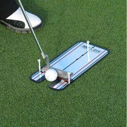 Deutschland Tragbare Golf Putting Spiegel Ausrichtung Trainingshilfe Swing Trainer Eye Line Golf Trainingshilfen Golf Swing Gerade Praxis Werkzeug cheap golf alignment training aids Versorgung