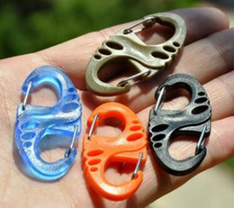 Wholesale Paracord Survival Keychain - Colorful Plastic S-Biner Carabiner Clips For Paracord Survival Bracelet Keychain