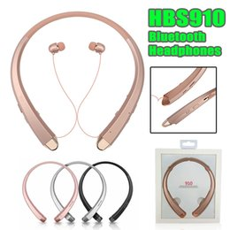 Wholesale best quality bluetooth headset - HBS 910 Headset Earphone Sports Wireless Bluetooth 4.1 CSR Headphone Best Quality For iphone samsung With Package