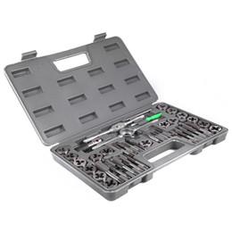 Tap plastica online-40pcs regolabile metrico portautensili filo chiave calibro strumenti manuali con custodia in plastica t-handle rubinetto titolare per filettatura riparazione vb