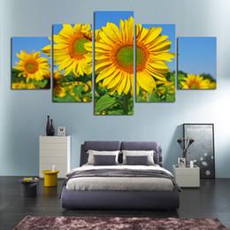 2019 numero di pittura fiore Spedizione gratuita HD Girasole Fiore Oli Pittura Colorare per numero su tela per salotto la camera da letto arte parete casa arredamento sconti numero di pittura fiore