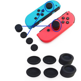 Botones de interruptor de goma online-12 unids / lote caucho de silicona suave empuñadura analógica Thumbstick mejora botón tapa cubierta para Nintendo Nintend Switch NS NX accesorios