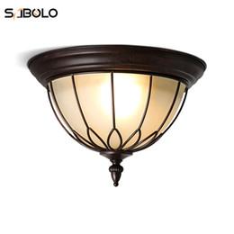 Lampes de plafond de style country américain pour salon chambre loft Lampes de couloir industriel lampes de plafond vintage ? partir de fabricateur