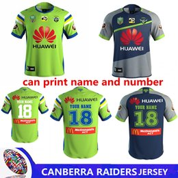 Wholesale Raiders Jerseys - 2018 NRL JERSEYS CANBERRA RAIDER S Rugby 17 18 Home Jerseys NRL National Rugby League rugby shirt nrl jersey size s-3xL (Can print)