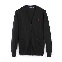 Diseñador de la marca Polo Cardigan Sweater Ropa de alta calidad para hombres y mujeres London New York Chicago Polo Polo Button Button Sweater desde fabricantes