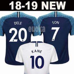 Wholesale new away - New 18 19 Tottenhames KANE Jerseys Home away third white Soccer Jersey 2017 2018 LAMELA ERIKSEN DELE SON Away blue Football shirt