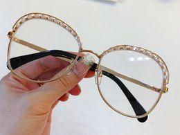 óculos de sol flash Desconto Luxo de moda de nova mulheres designer de óculos de sol 4246 armação de metal high-end óculos de Sol óculos claros metade de com flash uv400 óculos de proteção