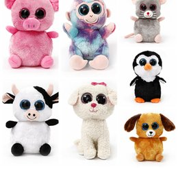 Wholesale Plush Toy Big Dog - Ty Beanie Boos Dog Cat Big Eyes Film Cartoon Doll Kids Plush Toys Christmas Gift DDA111