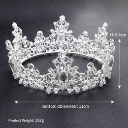 Wholesale crystal hairpins - New Baroque Vintage Crystal Wedding Bridal Tiaras Hairband Headpiece Gold White Clear Princess Girls Pageant Crown Bridal Hair Accessories