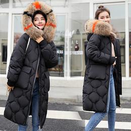 Jaqueta tamanho grande mulheres coreanas on-line-Médio e longo estilo de algodão acolchoado jaqueta 2019 Inverno New Big Size versão coreana com Extra Grosso Mulheres Down Jacket