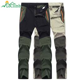 c1b77e9c5025 LoClimb Anti-UV Elastic Thin Hiking Pants Men Quick Dry Outdoor Sport  Trousers Cycling Trekking Fishing Waterproof Pants AM294 C18111401