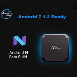 n box tv Скидка X96 мини андроид Н 7.1.2 готова встроенный S905W новый телевизор коробка 1 г+8 г 2г+16 ГБ eMMC флэш сек.265 HEVC и 10 битное HDR VP9 или андроид коробки