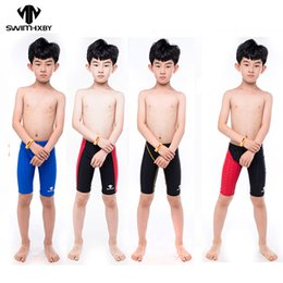 Wholesale Child Pink Swimsuit - HXBY Professional Kids Boys Swimming Trunks Boys Swimwear Shorts Swimsuit Swim Trunks Children profession swim