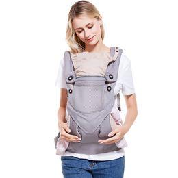 2018 Ergonomic Baby Carrier 360 Cool Air Coton Bio Wrap Sling Sac À Dos Bébé Réglable Enfants Manduca Baby Carrier Sling ? partir de fabricateur
