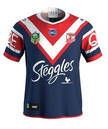 Wholesale Multi Spider - 2018 NRL JERSEYS SYDNEY ROOSTERS home Rugby 2017 Sydney Roosters rugby jerseys men 9S rugby shirts Spider Man jerseys size S-3XL