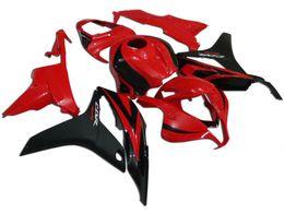 Scaffali personalizzati per honda cbr online-Kit carenatura personalizzata per HONDA CBR600RR F5 07 08 CBR 600RR 2007 2008 cbr600rr ABS Hot red gloss black Fairings set + 7gifts HG17