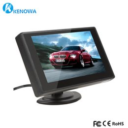 2019 tv-schaltungen NEU 4,3 Zoll 800 * 480 TFT HD LCD Monitor Auto Reverse Parking LED GPS Bildschirm mit 2 Video-Eingang für Rückfahrkamera DVD