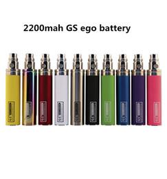 Tempos mais rápidos on-line-Transporte rápido 2200 mah GS ego cigarro Eletrônico bateria Bateria Completa 1500 puffs vape vida útil da bateria mais de 1500 vezes
