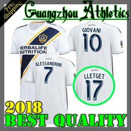 Wholesale Soccer Jersey Galaxy - 2018 Los Angeles Galaxy Soccer Jerseys 18 19 Los Angeles Galaxy ALESSNDRINI J.DOS SANTOS GIOVANI LLETGET home jersey