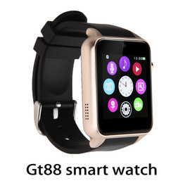 Wholesale Blood Pressure Android - GT88 Smart Watch Monitor Bluetooth Smartwatch Support SIM Card Heart Rate Waterproof Smartwatches for IOS Android Phones 770009