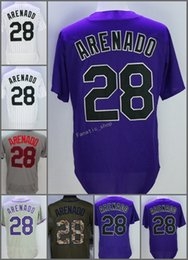 Wholesale Colorado Shorts - 2018 Flexbase Colorado #28 Nolan Arenado Home Away Baseball Jersey Purple WhiteCool Base Stitched Jerseys