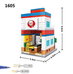 Забавные игрушки для детей LOZ мелкие частицы Алмаз строительные блоки орфография игрушки 1601-1608 мини-Уличная сцена детская игрушка от