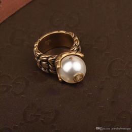 Отличные украшения онлайн-Известный дизайн одно кольцо с природой отличный жемчуг дизайн высокое качество латунь для женщин обручальные кольца подарок ювелирных изделий в 6-8# PS5430