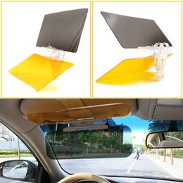 taglio plastica acrilica Sconti Autos Sun Visor Clip Parasole per occhiali da sole Cover Day Night Anti-Dazzle Mirror Kit