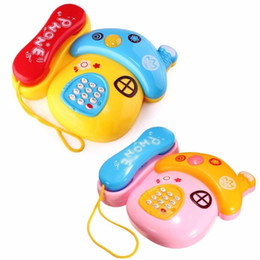 Wholesale educational toys for toddlers - 2017 Baby Kids Musical Mobile Phone For Toddler Sound Educational Learning Toy High Quality