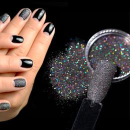 черный лазерный блеск Скидка Ultra-thin Black Laser Shining  Glitter Dust For Nail Art Tools Nail Bright Chrome Pigment  Art Decoration 4439