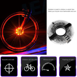 Wholesale Led Lights For Bicycles Wheels - Bike Wheel Hub Lights Waterprooof LED Cycling Lights Cycling Bicycle Spoke Lights for Safety Warning and Decoration Christmas Gift